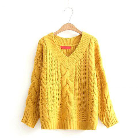 Unique New Ladies Knitting V Neck Twist Sweater