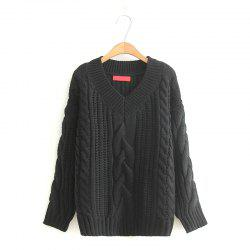 New Ladies Knitting V Neck Twist Sweater -