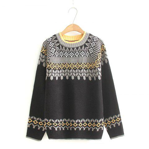 Affordable 2017 New Ladies' Knitting Ethnic Wind Style Sweater