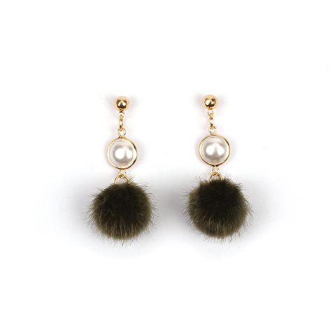 Fashion 2017 New Pearl Wool Ball Plush Pompon Earrings Personalized Winter Accessories