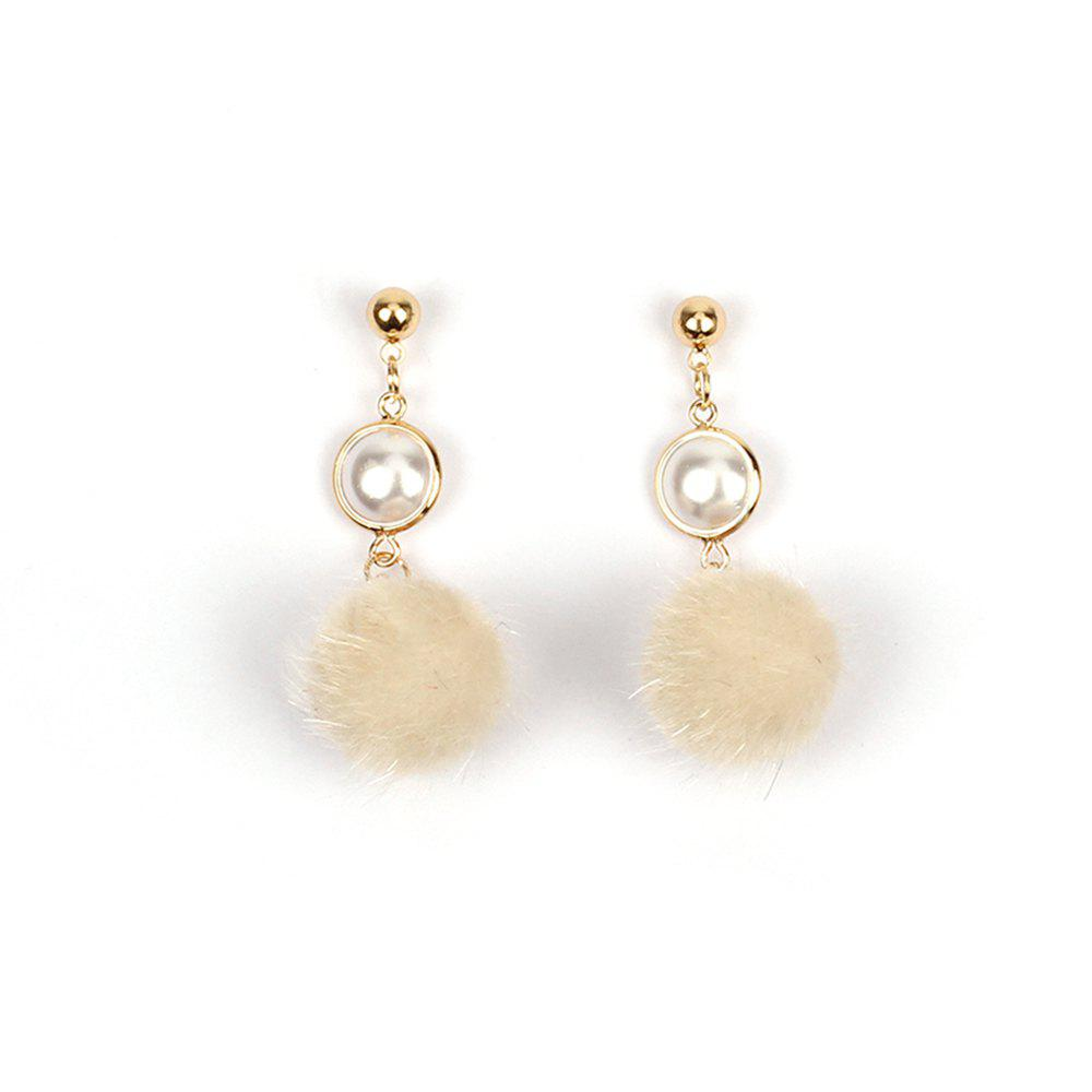 New 2017 New Pearl Wool Ball Plush Pompon Earrings Personalized Winter Accessories