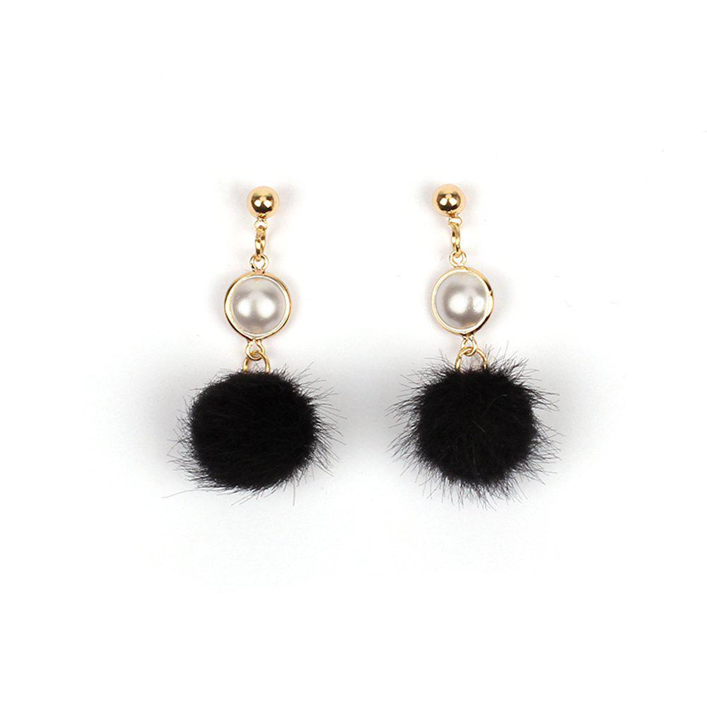 Shops 2017 New Pearl Wool Ball Plush Pompon Earrings Personalized Winter Accessories