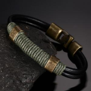 Vintage Cortex Braided Men's Personality Handbags Bracelet -