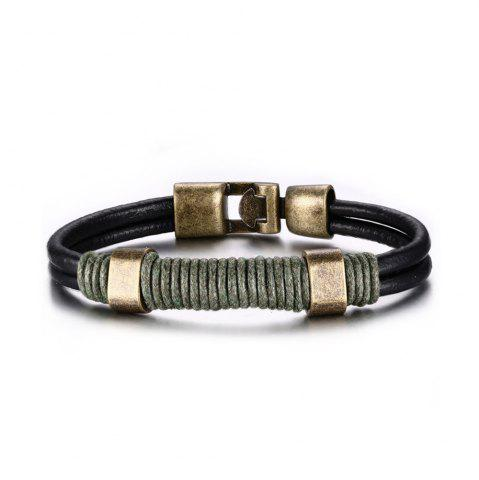 Store Vintage Cortex Braided Men's Personality Handbags Bracelet