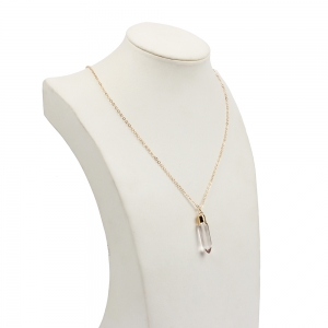 Simple Geometric Pendant Jewelry Crystal Bullet Swing Clavicle Chain  Necklace -