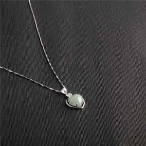 JAMOUR S925 Silver Pendant Sterling Natural Jade Fashion Accessories Women's Necklace -