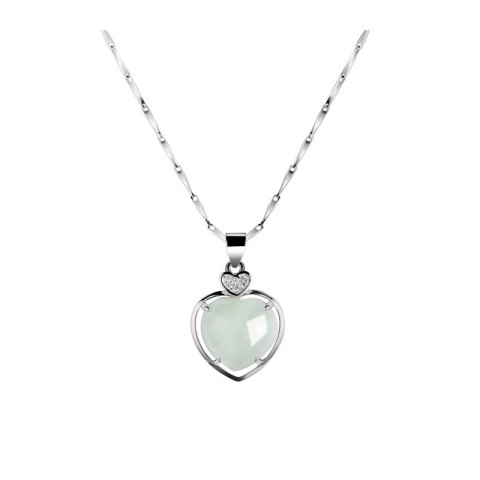 Shops JAMOUR S925 Silver Pendant Sterling Natural Jade Fashion Accessories Women's Necklace