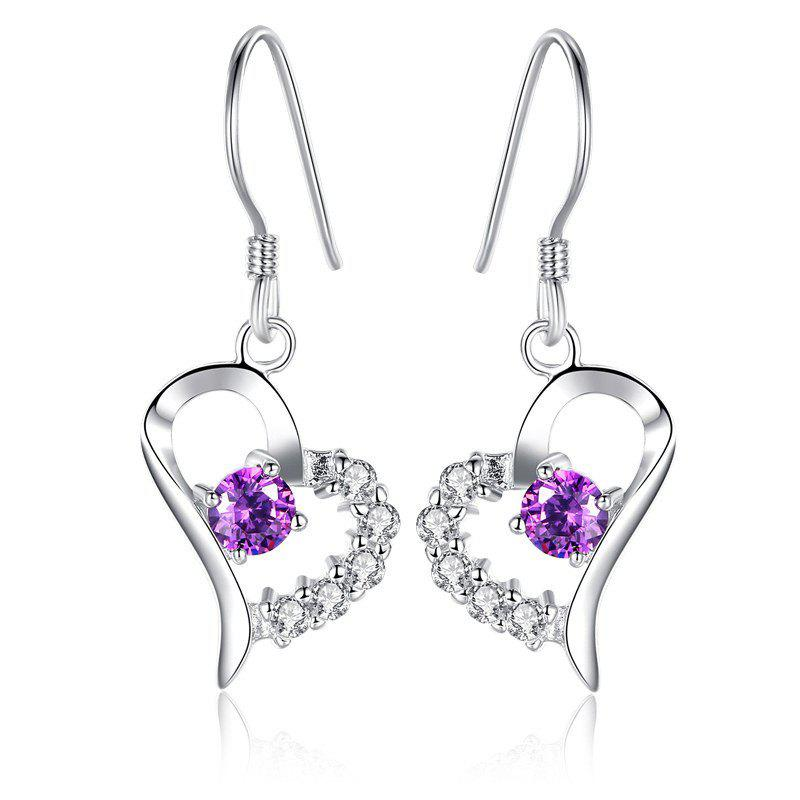 Discount JAMOUR S925 Silver Heart Earrings Love Zirconium Fashion Wild Female Jewelry
