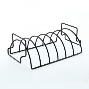 Non-stick Rib Rack Great for Cooking Ribs Roasts Chickens Camping  Picnics  and Other Outdoor Activities -