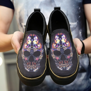 Men Leisure Fashion Loafers Shoes Breathable Walking Sneakers -