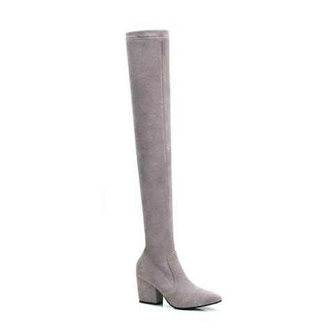Best A Rough Heels Elastic Thin Thigh Boots