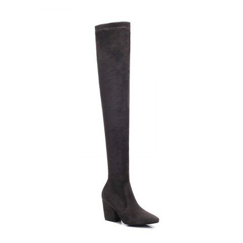 Affordable A Rough Heels Elastic Thin Thigh Boots