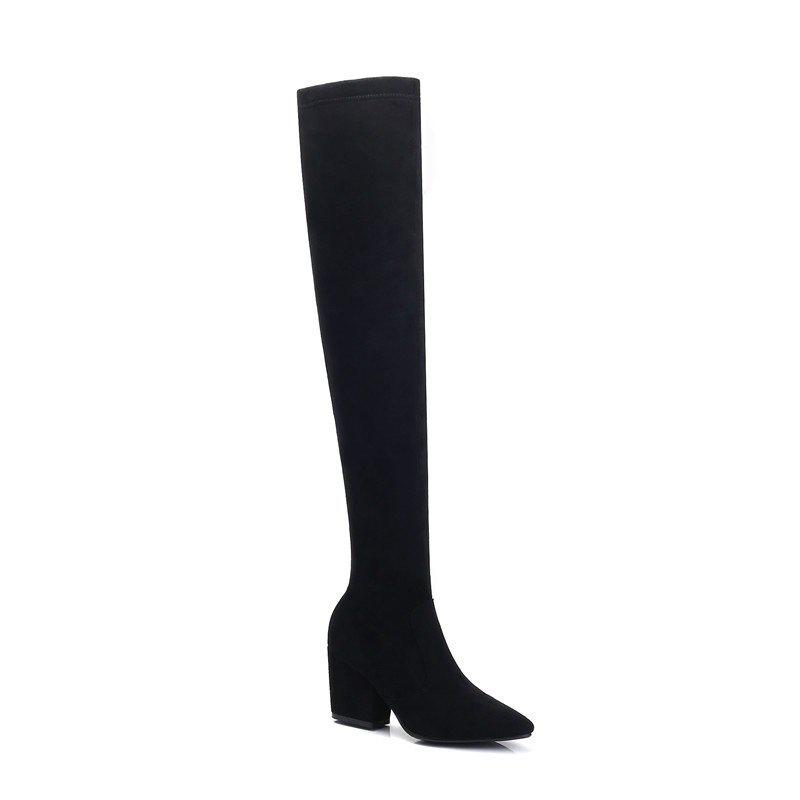 Outfit A Rough Heels Elastic Thin Thigh Boots