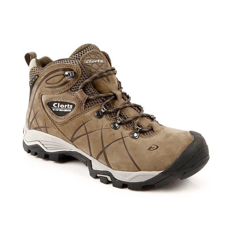 Cheap Real Leather Waterproof Outdoor Hiking Boots Rubber Athletic Sneakers for Men