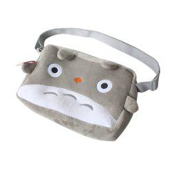 Gray Cat Plush Bag Shoulder Schoolbag Cosplay Kids Hangbag -