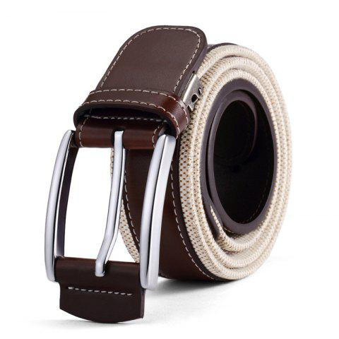 Unique HAUT TON Men's Design Business Casual Canvas Leather Belt
