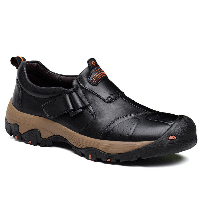 Fashion Autumn and Winter Male Breathable Walking Sneakers Genuine Leather Hiking Climbing Shoes Light Weight Waterproof Sport Outdoor Trekking Boots