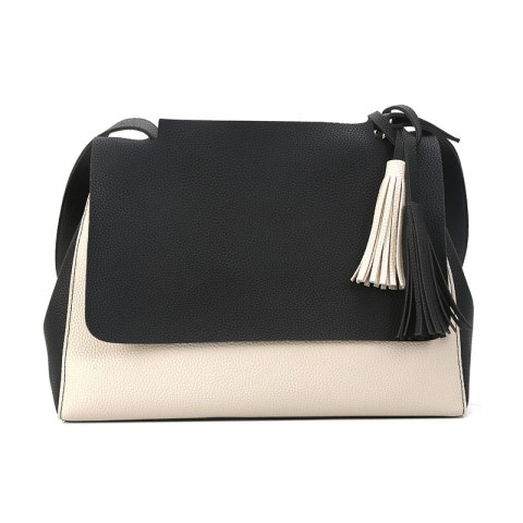 Cheap New Simple Women Contrast Color Shoulder Bags Fringed Bag