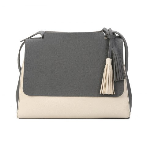 Chic New Simple Women Contrast Color Shoulder Bags Fringed Bag
