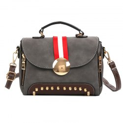 Female New Rivet Frosted Cross-body Shoulder Messenger Bag -