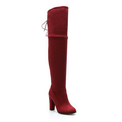 Best Women's Boots Above Knee High Thick Heel Solid Color All Match Fashionable Shoes