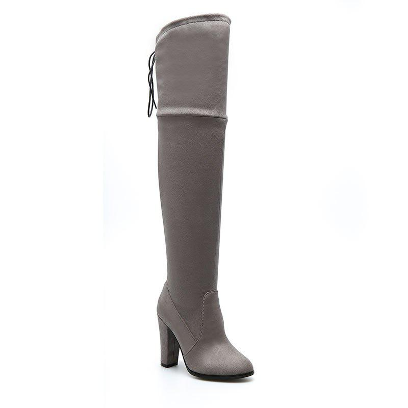 Hot Women's Boots Above Knee High Thick Heel Solid Color All Match Fashionable Shoes