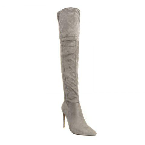 Latest Female Winter Boots Over The Knee Boots High Heel Suede Boots