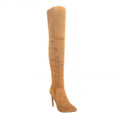 Discount Female Winter Boots Over The Knee Boots High Heel Suede Boots