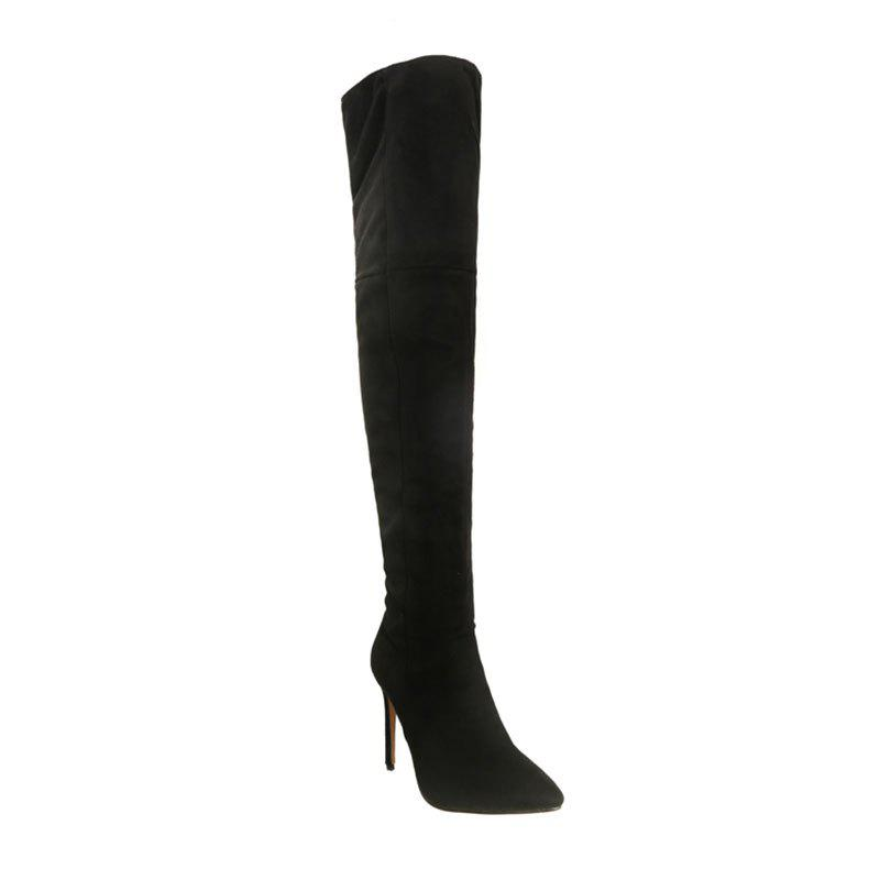 Best Female Winter Boots Over The Knee Boots High Heel Suede Boots