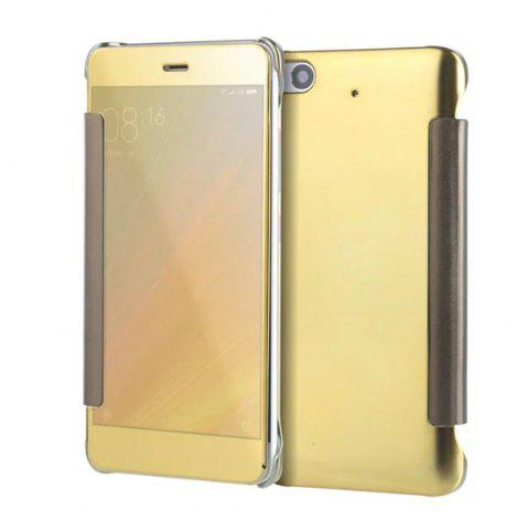Fancy Luxury Mirror PU Leather Smart Flip Hard Protective Back Cover Case for Xiaomi 5S