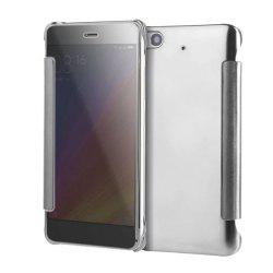 Luxury Mirror PU Leather Smart Flip Hard Protective Back Cover Case for Xiaomi 5S -