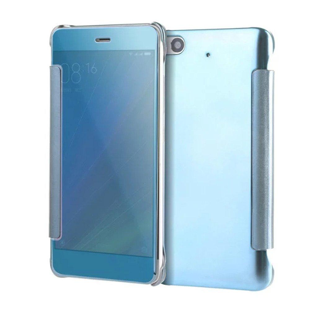 Outfits Luxury Mirror PU Leather Smart Flip Hard Protective Back Cover Case for Xiaomi 5S