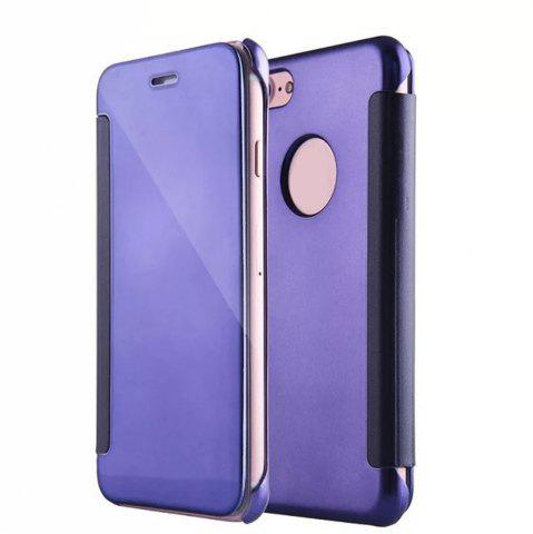 Outfits Luxury Mirror PU Leather Smart Flip hard Protective back cover Case for iPhone 7 Plus