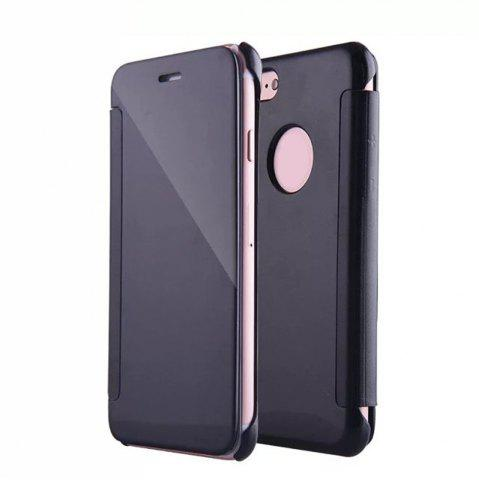 Fancy Luxury Mirror PU Leather Smart Flip hard Protective back cover Case for iPhone 7 Plus