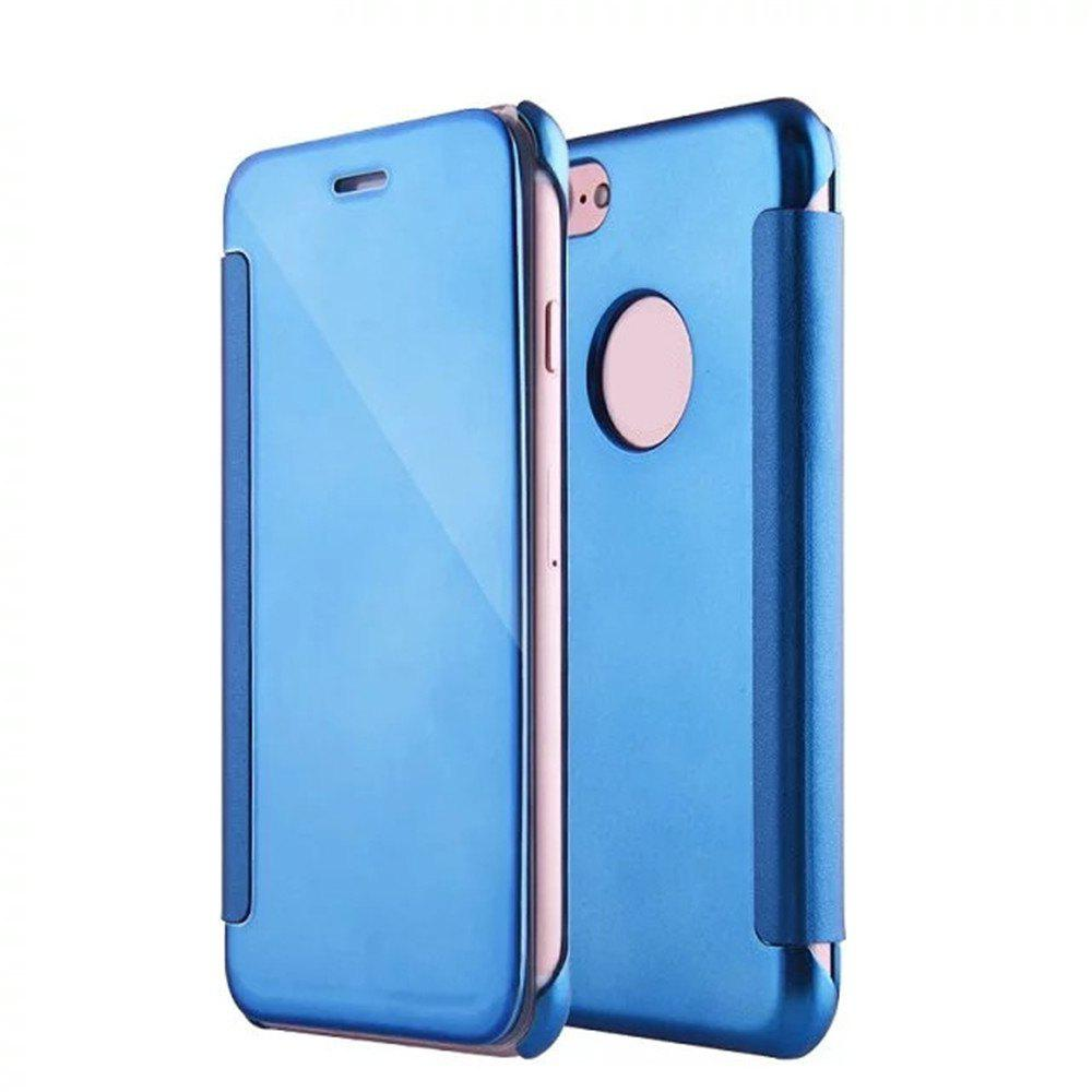 Latest Luxury Mirror PU Leather Smart Flip hard Protective back cover Case for iPhone 7 Plus