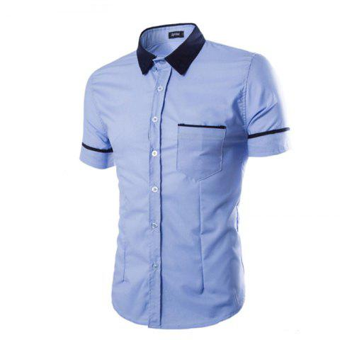 Trendy Men's Casual Short Sleeved Shirts