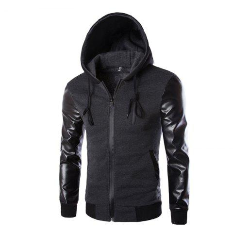 Chic Men's Wear Hooded Jacket