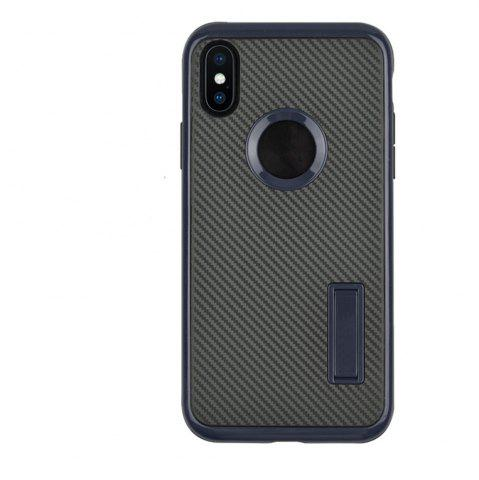 Shop Slim Carbon Fiber Bracket Rear Cover Case for iPhone X