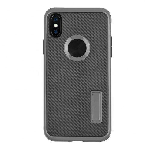 New Slim Carbon Fiber Bracket Rear Cover Case for iPhone X
