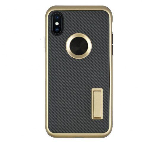 Store Slim Carbon Fiber Bracket Rear Cover Case for iPhone X