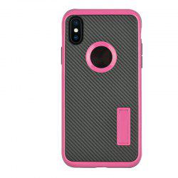 Slim Carbon Fiber Bracket Rear Cover Case for iPhone X -