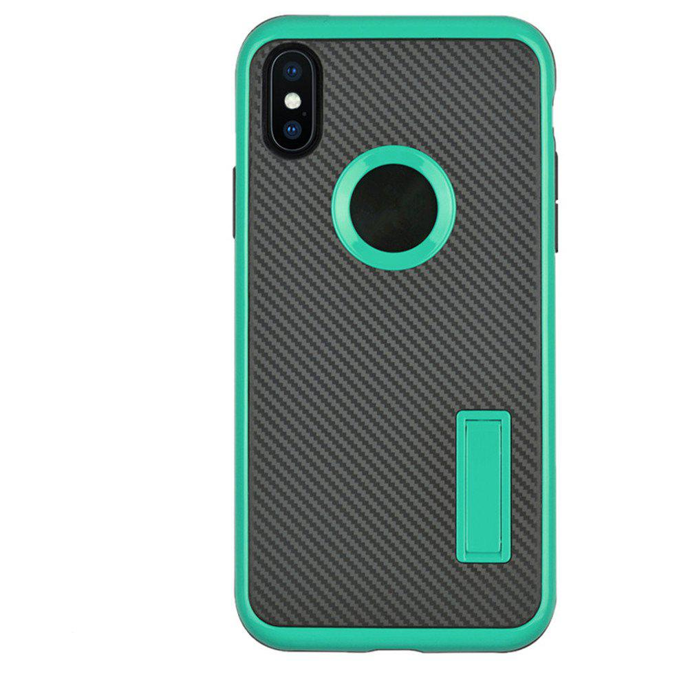 Hot Slim Carbon Fiber Bracket Rear Cover Case for iPhone X