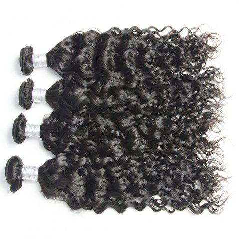 Latest Malaysian Water Wave Virgin Human Hair Extension Natural Color 1 bundle 12inch - 26inch