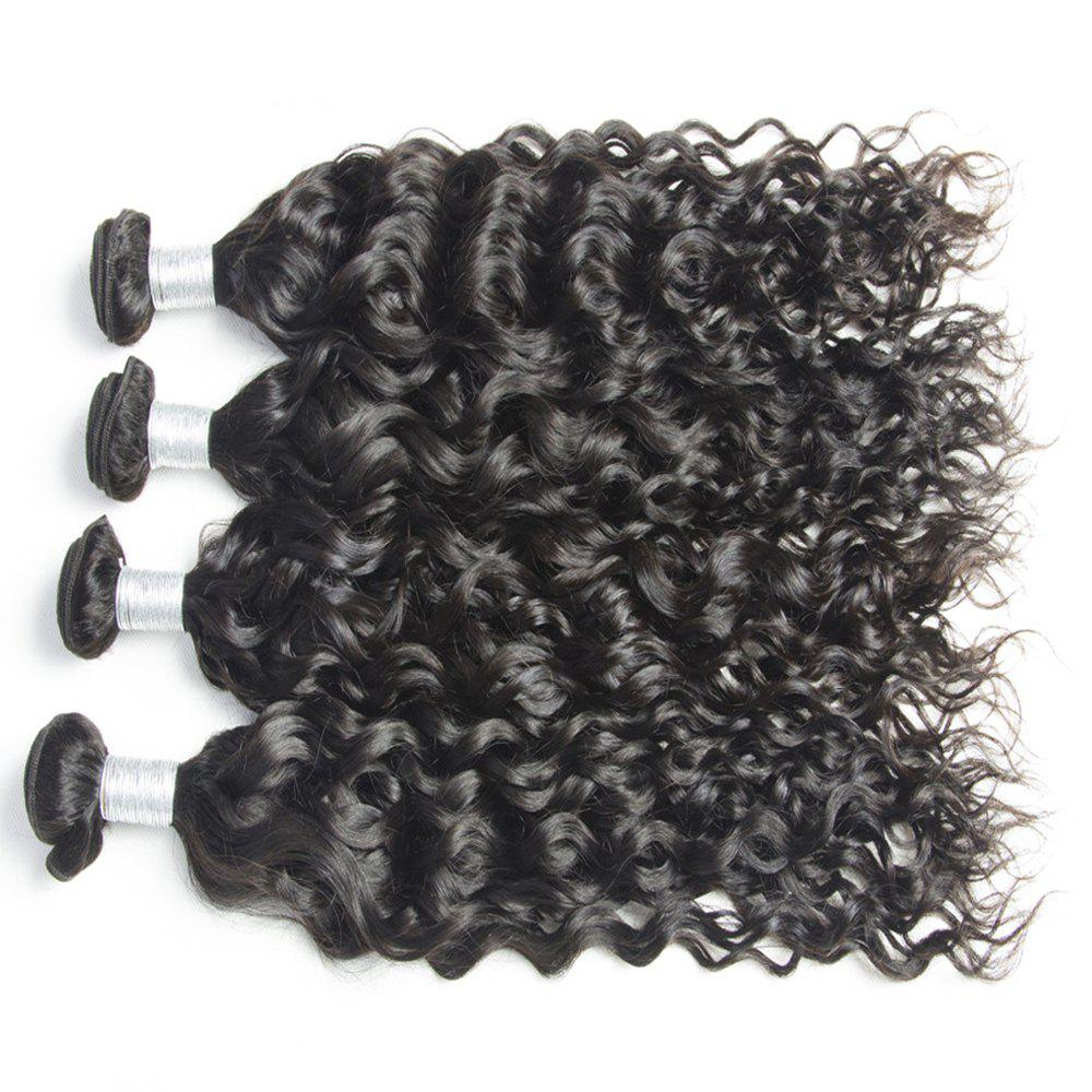 Best Malaysian Water Wave Virgin Human Hair Extension Natural Color 1 bundle 12inch - 26inch