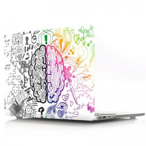 Computer Shell Laptop Case Keyboard Film Set for MacBook Pro 13.3 inch Touch 2016 -3D Graffiti Around The Brain -