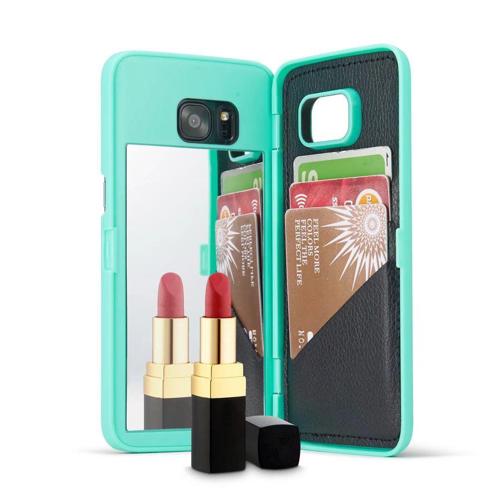 Affordable Luxury Mirror Flip Phone Cover for Samsung Galaxy S7 Edge Case Girl