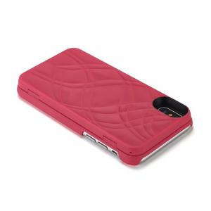 Luxury Mirror Flip Phone Cover for iPhone X Case Girl -