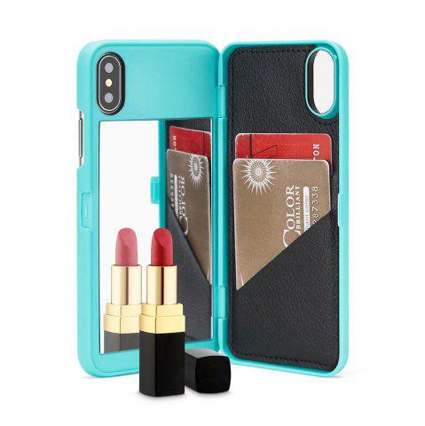 Fashion Luxury Mirror Flip Phone Cover for iPhone X Case Girl