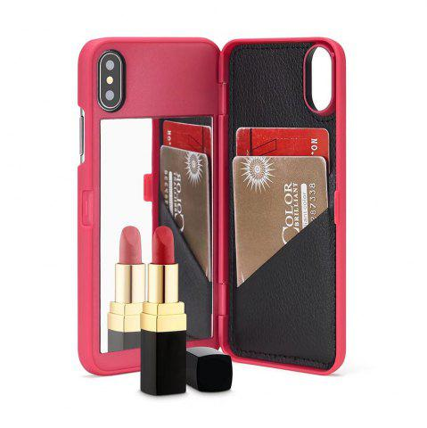 Fancy Luxury Mirror Flip Phone Cover for iPhone X Case Girl