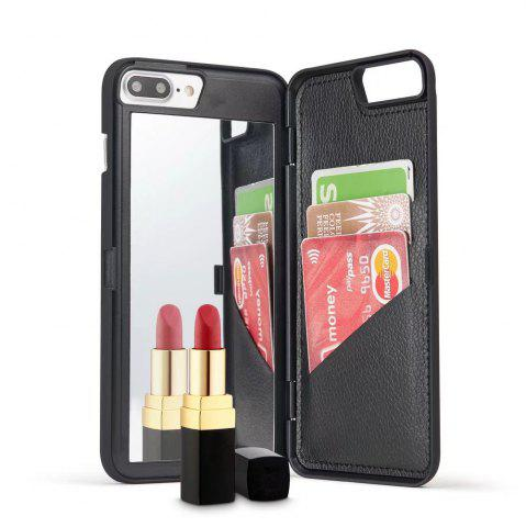 Outfit Luxury Mirror Flip Phone Cover for iPhone 8 Plus  / 7 Plus Case Girl